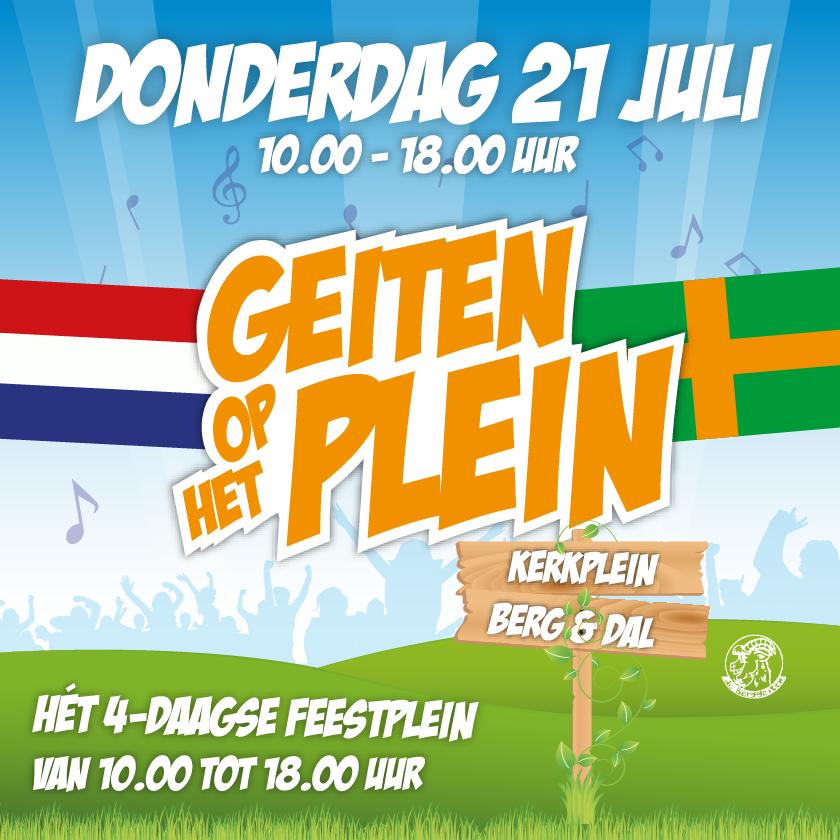Geiten op het Plein - Donderdag 21 Juli 2016 - Kerkplein Berg en Dal - Post